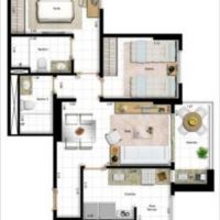 Planta apartamento 67,73m² ID: 30849