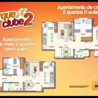 Planta Baixa das Unidades de 2 e 2 Quartos com Suite ID: 40406