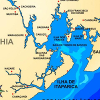 Mapa da Ilha de Itaparica, Praia da Coroa ID: 30333